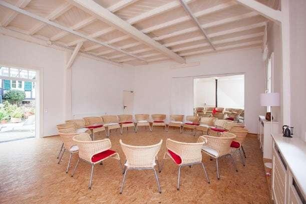 Bestuhlungsbeispiel Saal Seminarhaus'Haus in Bewegung' in Neunkirchen-Seelscheid