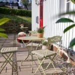 Terrasse der Ferienwohnung im Haus in Bewegung in Seelscheid  Haus in Bewegung