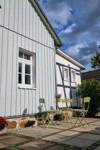 Terrasse der Ferienwohnung in Seelscheid für Urlaub pur| Haus in Bewegung