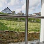 Naturnaher, freier Fensterblick der Fereinwohnung in Seelscheid  Haus in Bewegung