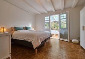 Schlafzimmer der Ferienwohnunh im Haus in Bewegung in Seelscheid