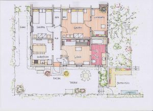 Grundriss Ferienwohnung Haus in Bewegung
