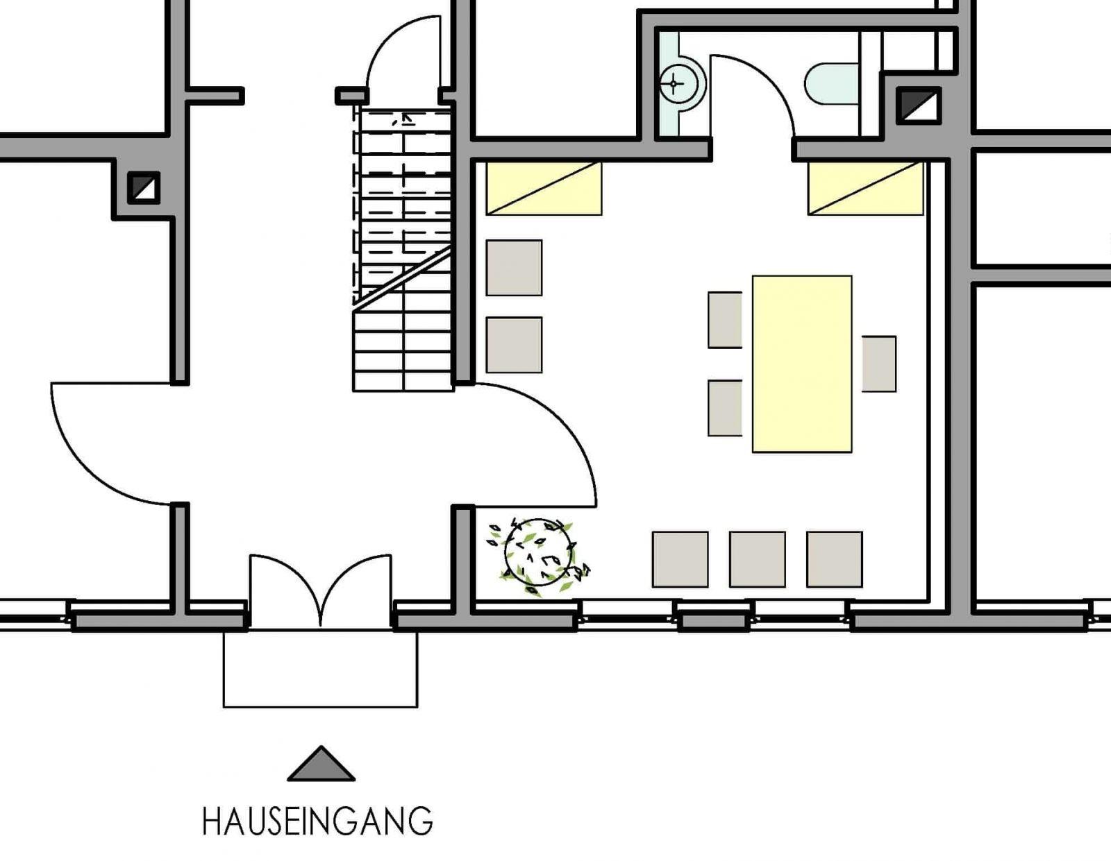 Grundriss kleines Trauzimmer im Haus in Bewegung| Haus in Bewegung