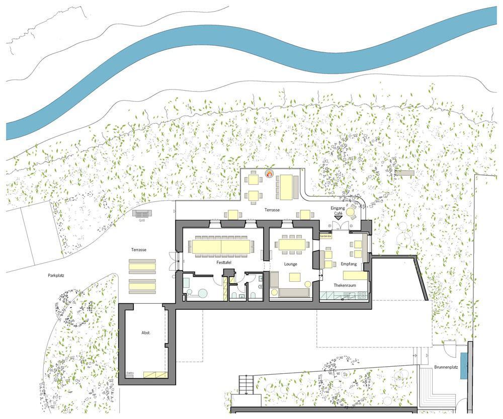 Grundriss der Eventlocation Haus in Bewegung