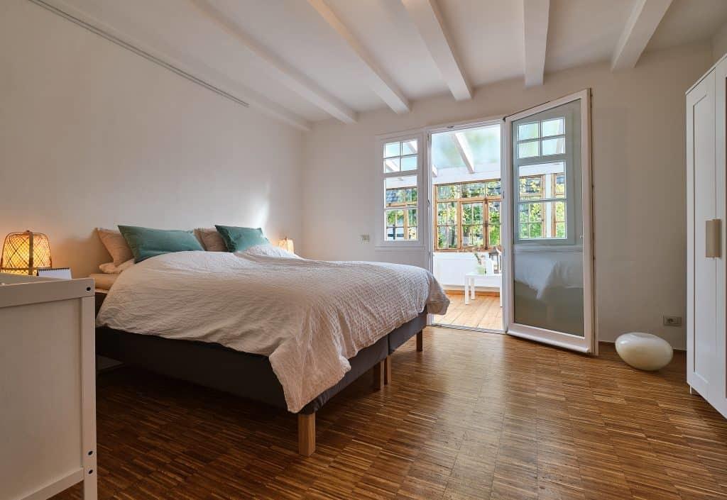 Schlafzimmer Ferienwohnung Haus in Bewegung