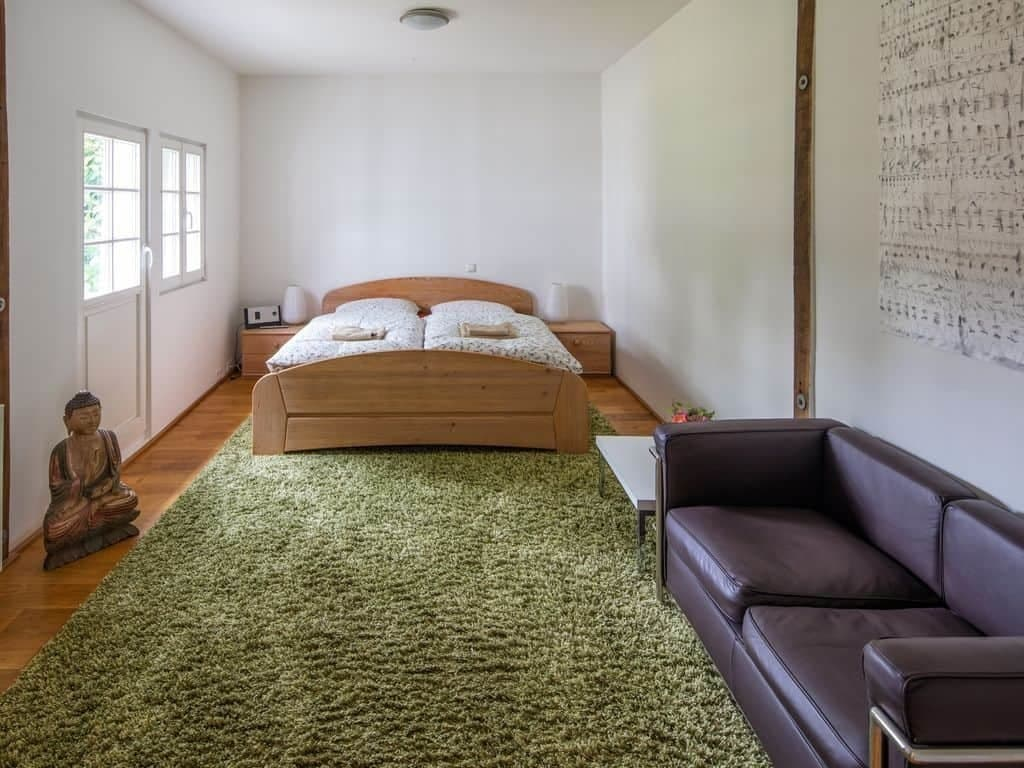 Schlafzimmer Gästehaus im Haus in Bewegung