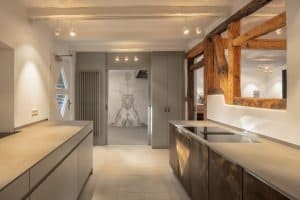 Innenansicht der Buchmühle Küchenbereich  Haus in Bewegung